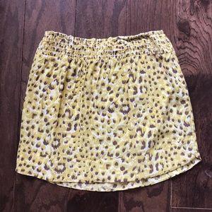 Karina Grimaldi SILK Leopard Print Skirt